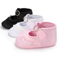 Sıcak Prenses Bebek Kız Çocuk Yaz Yumuşak Sole Ayakkabı infantil Kız Dantel Çiçek Alt Kaymaz Önce Çocuklar Walker Prewalkers