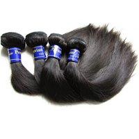 Beautysister capelli Migliore qualità vergine peruviana diritta dei capelli umani pacchetto estensione Weave 4Pieces 400g Lotto Fro Una testa piena da un donatore