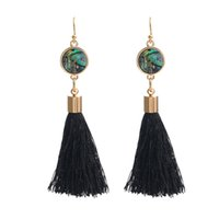 New Handmade Bohemia Trendy Colorful Tassel Dangle Earrings ...