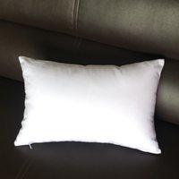 12x18 inç düz beyaz bel yastık kılıfı saf beyaz pamuklu boş bel yastık kılıfı beyaz bir katı boş bel yastık kılıfı