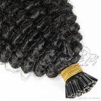 VMAE Malaysian Remy Jungfrau I Tipp Pre gebunden 100g Keratin Stick Body Wave Afro Kinky Curly Gerade 4A 4B 4C Human Hair Extensions