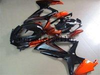 Bom para SUZUKI GSXR 600 750 GSX R750 R600 GSXR600 08 09 10 GSXR750 GSXR600 K8 GSXR750 2008 2009 2010 preto laranja Fairing kit AA23