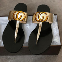 Leather Thong Sandal Women Luxury Desinger Slippers Fashion ...