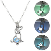 Collana color argento luminoso collana di collane cave cane cagnolino San Valentino antico perline luminose Censer J Cage regalo