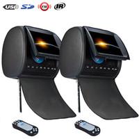 2 PCS 9 pouces appui-tête de voiture moniteur DVD Lecteur Fermeture À glissière DVD de voiture avec USB SD FM IR Télécommande De Jeu