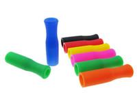 Pontas conservadas em estoque quentes do silicone para as palhas de aço inoxidável Tubulações da prevenção da colisão do dente cobrem os tubos do silicone