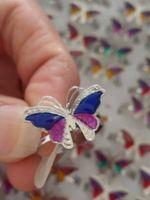 Großhandel - Mood Ring Mix 100pcs Lot Schmetterling Magic Emotion Gefühl Farbe veränderbar Mood Ringe Adju