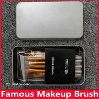 Hot célèbre N3 brosse de maquillage esthétique du visage Pinceau Kit Boîte Métal Pinceau Poudre Ensembles Brosses