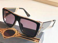 النظارات الشمسية الجديدة الرجال تصميم الرجعية النظارات الشمسية SOULINER سلسلة نمط نصف مربع إطار حماية للأشعة فوق البنفسجية 400 عدسة في الهواء الطلق النظارات الواقية