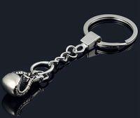 20pcs / lot Guantoni da boxe Key Chain catena dell'automobile pendente del sacchetto chiave Portachiavi Sport Pugno portachiavi Boxer Golvers Portachiavi