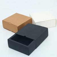 تخصيص نوع درج نوع العالمي للطي هدية مربع مع ورق الكرافت مربع للأغذية والجوارب والهدايا، إلخ.