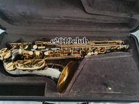 Julius Keilwerth EX90 Series III Brass Alto Eb Tune ساكسفون جودة عالية e شقة الموسيقية الصك الأسود النيكل الذهب منحوتة ساكس مع القضية الملحقات