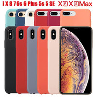 Bestsin for iphone XS max XR 7 8 X Cases Original Soft liqui...