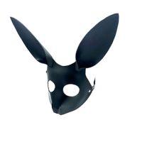 Cosplay Belle Esclave Lapin Masque Adultes Jeux BDSM Bondage En Cuir Contraintes Masque Pour Les Yeux Ouverts Pour Balle De Mascarade Carnaval Partie Sex Toy