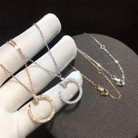 반짝이는 럭셔리 쥬얼리 순수한 % 100 925 스털링 Silvergold Pave 화이트 사파이어 CZ 다이아몬드 보석 네일 펜던트 쇄골 목걸이 선물