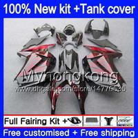 +Tank For KAWASAKI ZX-250R EX-250 ZX250R 08 09 10 11 12 201MY.28 Red flames EX250 ZX 250R EX 250 EX250R 2008 2009 2010 2011 2012 Fairings