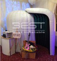 고품질 LED 로고 인쇄 팽창 식 사진 부스 광고 텐트 photobooth 키오스크 파티 이벤트 결혼식 장식