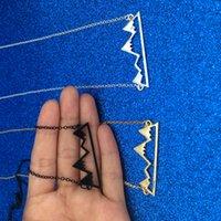 Полотые горные пик кулон ожерелье с серебряной золотой цепочкой мода хип-хоп ювелирные изделия для женщин мужские подарочные падение