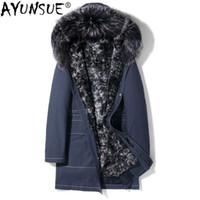 2019 Hot Sale!Winter Men Fashion Fox Fur Collar Faux Rabbit Fur ... 296f40687c