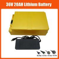 높은 품질 36V 20AH 리튬 배터리 충전식 1000W 36 V 20Ah Ebike 리튬 배터리 케이스 30A BMS 42V 2A 충전기