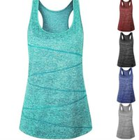 Women Quick Dry Yoga Tanks 5 Colors Sleeveless Fitness Sport...