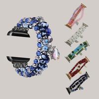 لفرق أبل ووتش حزام 1 2 3 4 5 مجوهرات الجيل كريستال الشريط لiWatch5 مربط الساعة الفرقة الفاخرة العقيق الشريط سوار أزياء