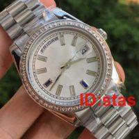 Vente chaude en acier inoxydable New Diamonds Hommes Hommes Luxe Genève bracelet de montre 2183 Qualité mode Montre Reloj Montres-bracelets