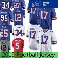 Buffalo Bills Jerseys 17 Josh Allen 49 Tremaine Edmunds 12 Jim Kelly 21  Poyer LeSean 25 ThomasThomas McCoy 95 Kyle Williams Dareus Stitched f18327b25