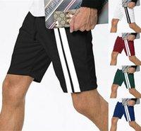 soltas calções casuais correia lateral esportes meados de cintura dos homens Jogging Run ginásio Shorts calções respirável treinamento da aptidão