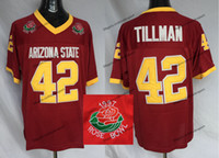 Mens Arizona State Sun Devis asu Pat Pillman 42 Vintage Home Kastoon 1997 Rose Bowl College Football Trikots