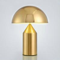 Moderna d'oro di funghi lampada da tavolo a LED Nordic Camera Lampada da comodino in stile Art Déco postmoderna tavolo luminoso abajur Soggiorno apparecchi di illuminazione