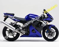 Pour Yamaha Caréning YZF-R6 YZF R6 YZF600 R6YZF 600 03 04 2003 2004 Sport Moto Bleu Black Black Boodwork Boodwork Kit (moulage par injection)