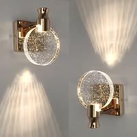 Yaratıcı Kabarcık Kristal Duvar Lambaları Minimalist Oturma Odası Yatak Odası Başucu Duvar Aplik Banyo Aynası Ön Duvar Işık Fikstürü
