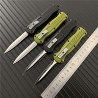 السكاكين 4 نمط BENCHMADE البسيطة الكافر مزدوجة العمل التلقائي 3350 D2 الصلب الرمح نقطة EDC الجيب التكتيكية سكين