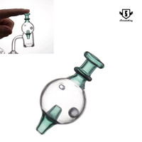 Стеклянный пузырь карбюратор крышки с подвижной шов для 25мм ОД кварц фейерверками ногтей стакан воды трубы затяжками DAB установок