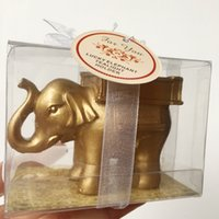 Lucky Golden Elephant Beautiful Candle Tealight Holder Party Wedding Door Gifts Favors Souvenirs Giveaways