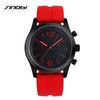 delle donne di sport di SINOBI Affordable Reloj Mujer morbido silicone orologi di Casula Ginevra orologio al quarzo moda cinturino di colore a buon mercato