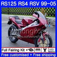 RS-125 ل Aprilia RS4 RSV125R RS 125 RS125 99 00 01 02 03 04 05 318HM.30 RS125R RSV125 R 1999 2000 2001 2002 2003 2005 Wine red hot Fairing