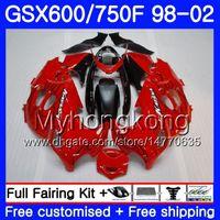 Кузов для SUZUKI KATANA GSXF 600 750 gsxf750 глянцевый красный черный 98 99 00 01 02 292HM.16 системы GSX 600F 750F GSXF600 1998 1999 2000 2001 2002 обтекатель