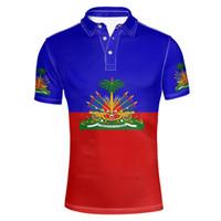 HAITÍ jóvenes bricolaje número conocido de encargo libre de la camisa de polo HTI nación ht país del pabellón francés ropas foto de impresión de la universidad de Haití
