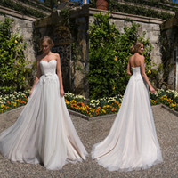 2019 Bohemia A Line Wedding Dresses Sweetheart Lace Up Tulle...