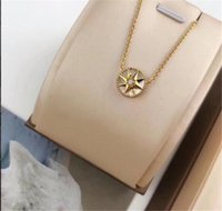 Engagement Luxury Jewelry Necklace Woman Gold Plated compass...