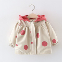 Girl Dot Jackets Baby Boys Camouflage Clothes Kids Outerwear Autumn Water Proof Korean Children Clothes Baby Jackets
