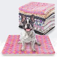 الملونة Caroset بساط الحيوانات الأليفة المعمرة الجرو غطاء الحيوانات الأليفة النوم بساط الوسادة الناعمة والدافئة الصوف القطة الكلب بيت الكلب