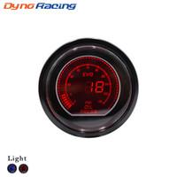 52mm 2inch Araba Yağı basın göstergesi EVO LCD Kırmızı / Mavi Led Yağ basınç göstergesi 0-150PSI ile Sensör / Araba metre