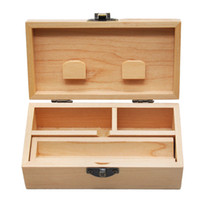 Wood Stash Box With Rolling Tray Natural Handmade Wood Tobac...