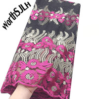 WorthSJLH Newest Nigerian French Lace Fabric 2019 African Sw...