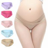 4Pcs / Lot 코 튼 U 자형 낮은 허리 출산 속옷 임신 한 여성 속옷 출산 팬티 임신 한 간략한 여성 의류
