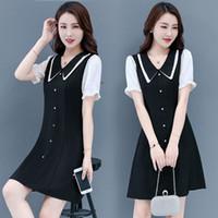 여름 여성 니트 옷깃 드레스 Fashionable.3 캐주얼 코튼 소재 편안한 니트 스웨터 통기성 클래식 드레스 크기 S-XXL