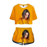 popular singer Billie Eilish 3D printed summer 2 Piece Set W...